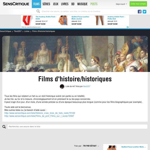 Films d'histoire/historiques - Liste de 406 films