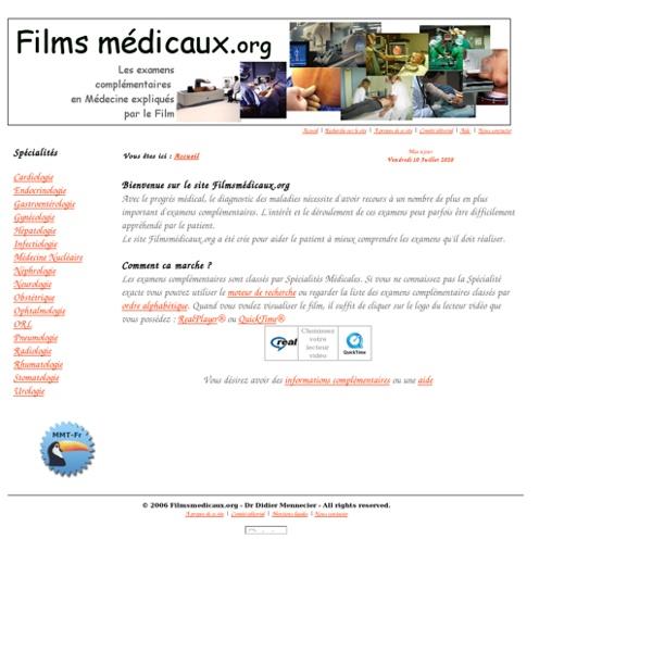 Films médicaux sur les examens complémentaires
