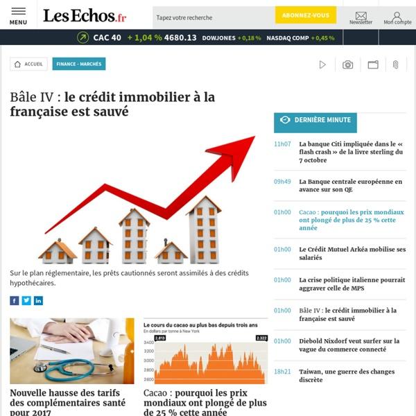 Finance & Marchés - L'actualité financière sur Les Echos.fr