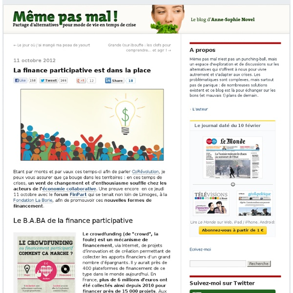 La finance participative est dans la place