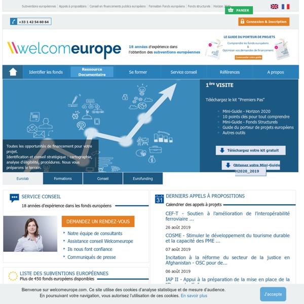 Subventions europeennes fonds europeens et aides et programmes de financement europeen 2014-2020
