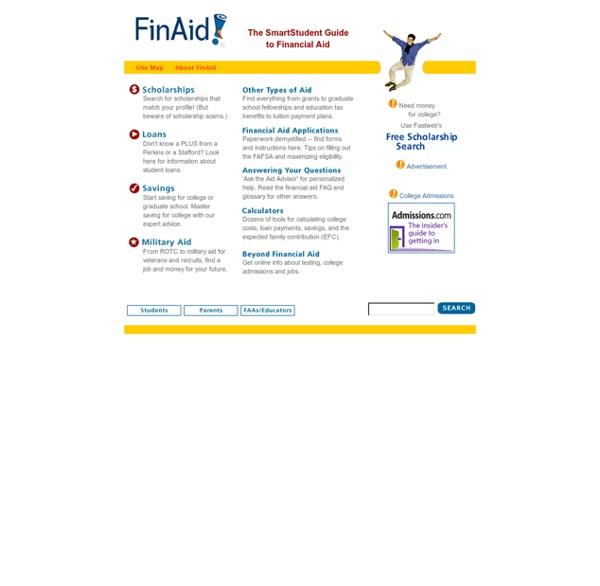 FinAid! Financial Aid, College Scholarships and Student Loans