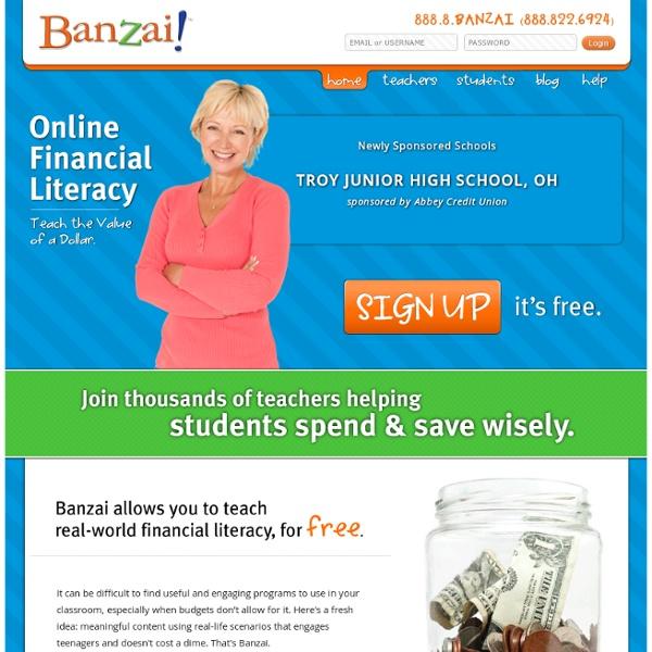 Financial literacy online software: Banzai
