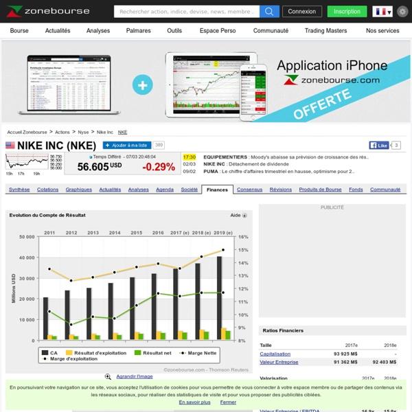 Nike Inc : Données financières, estimations et prévisions pour Nike Inc