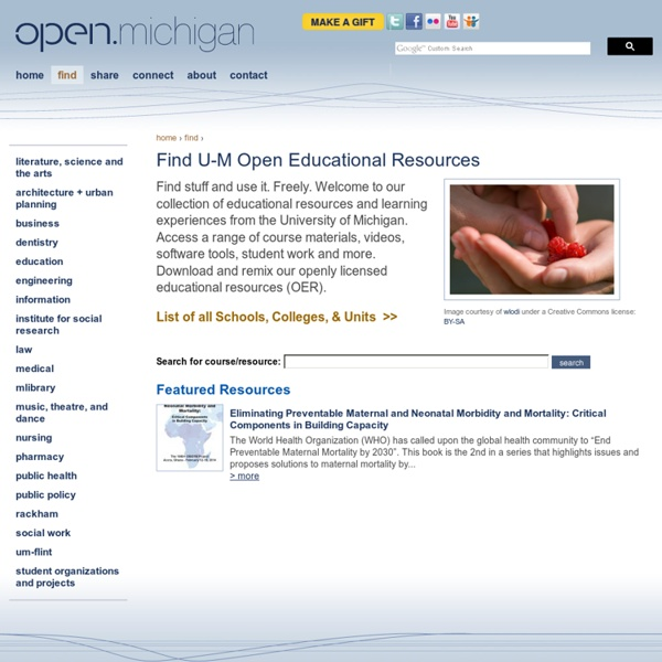 Find U-M Open Educational Resources