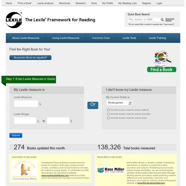 Find a Book - Lexile Framework for Reading