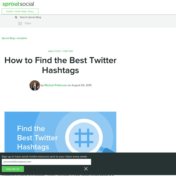 How to Find the Best Twitter Hashtags