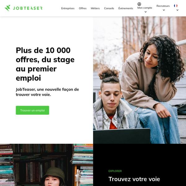 Etudiants et jeunes diplômés, trouvez le job qui vous correspond !