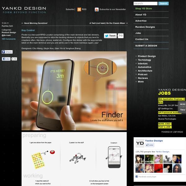 Finder – RFID Locator by Chu Wang, Qiujin Kou, Qian Yin & Yonghua Zhang