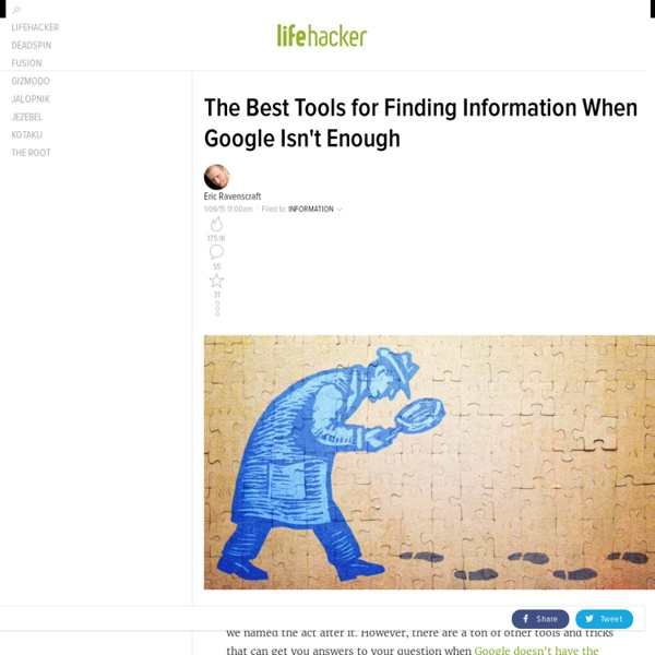 The Best Tools for Finding Information When Google Isn't Enough