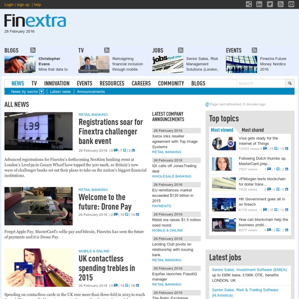 Finextra Research: latest financial technology news, analysis, j