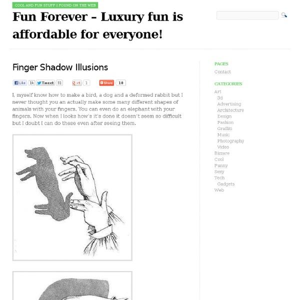 Finger Shadow Illusions