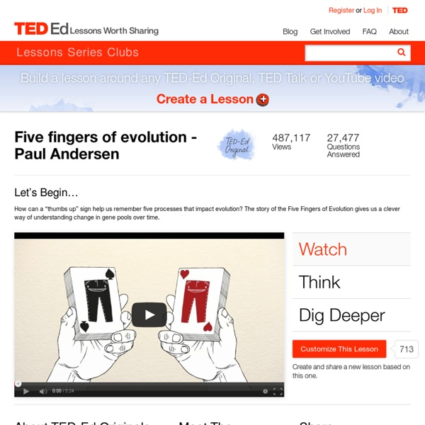 Five fingers of evolution - Paul Andersen