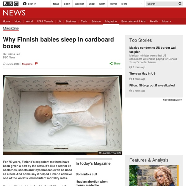 Why Finnish babies sleep in cardboard boxes