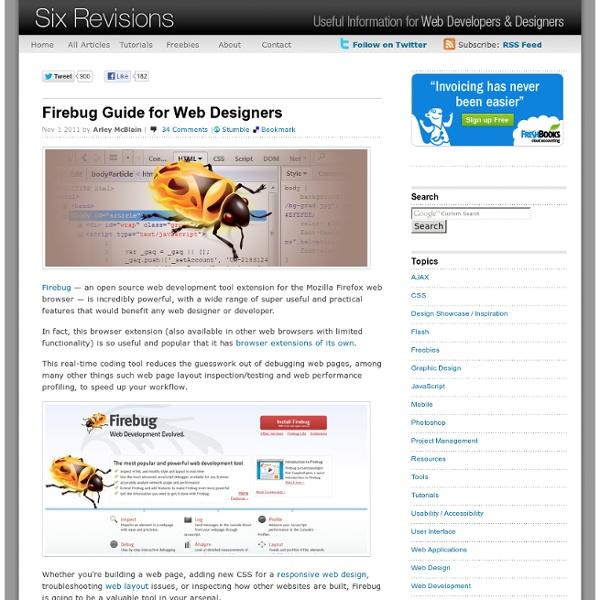 Firebug Guide for Web Designers