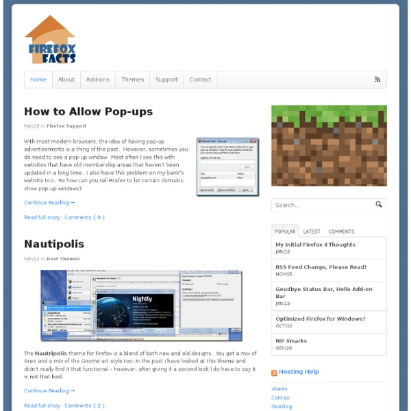 Best guide to add-ons, themes and tips for Firefox