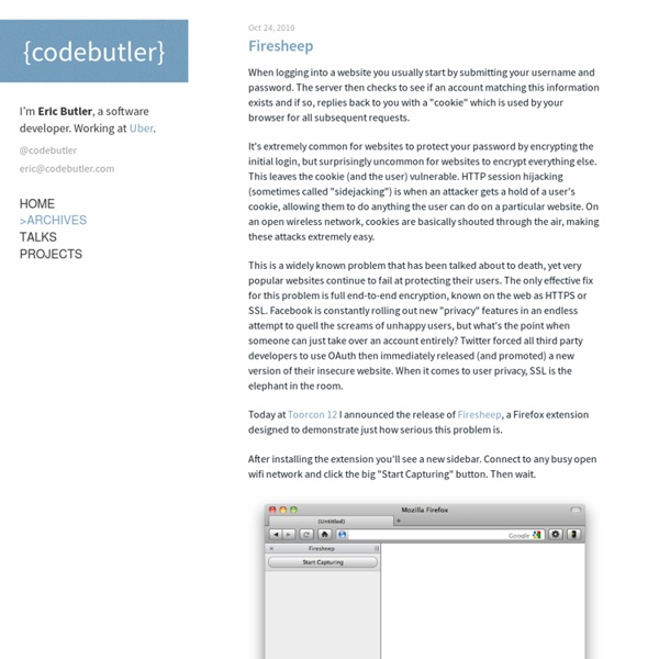 Firesheep - codebutler