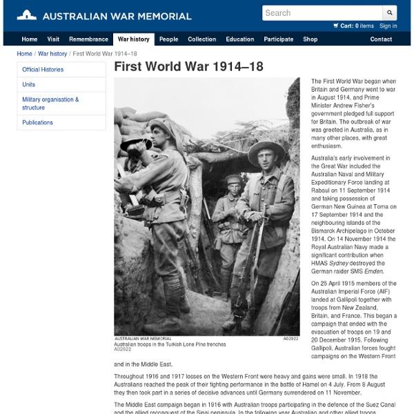 First World War 1914–18