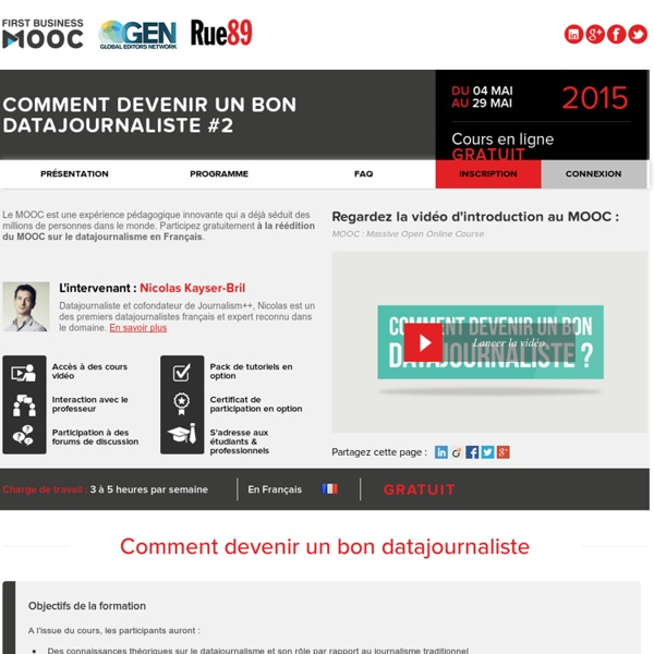 FIRST BUSINESS MOOC - Datajournalisme
