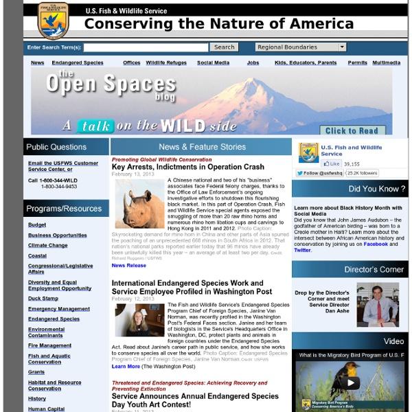 U.S. Fish and Wildlife Service Home