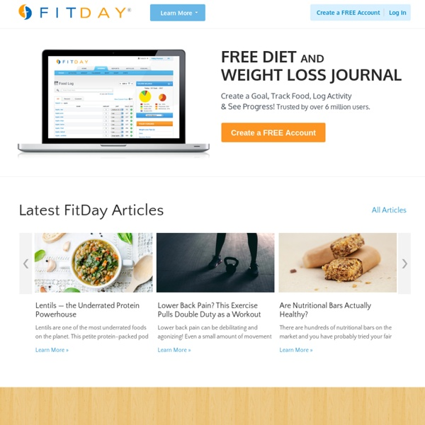 FitDay - Free Weight Loss and Diet Journal
