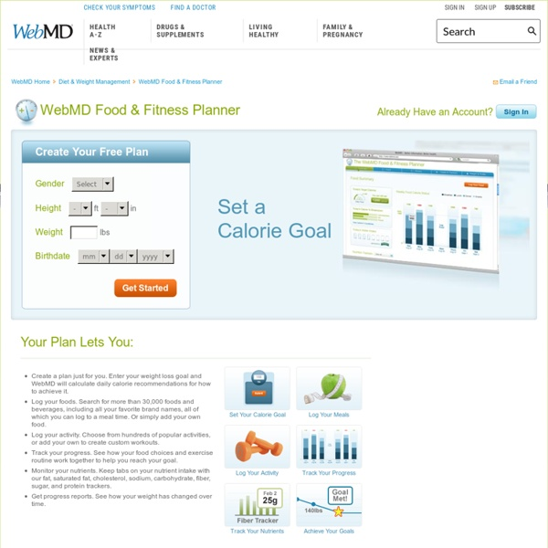 Your Personal WebMD Food & Fitness Planner - Food Log