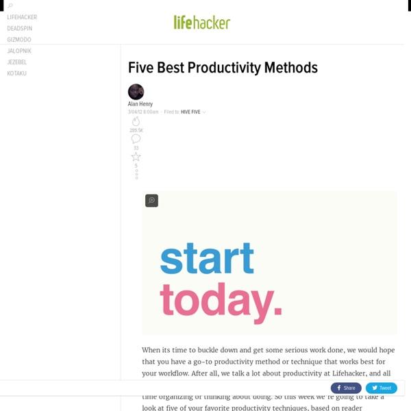 Five Best Productivity Methods