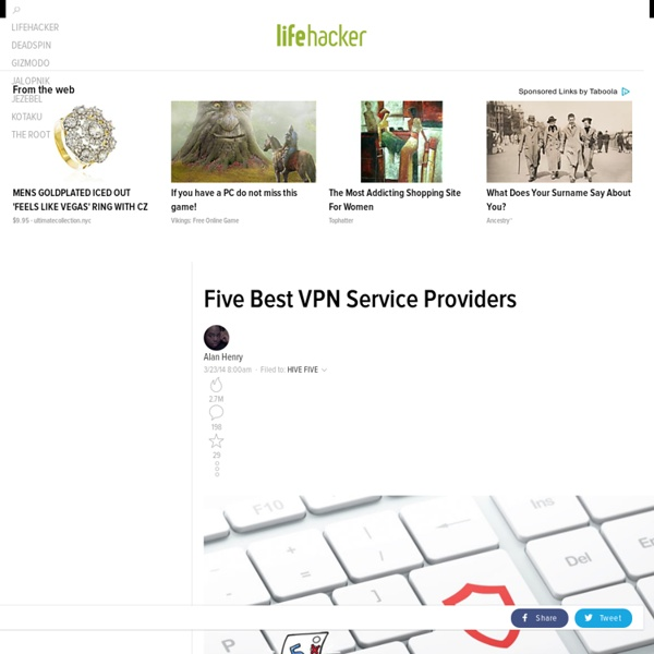 Five Best VPN Service Providers