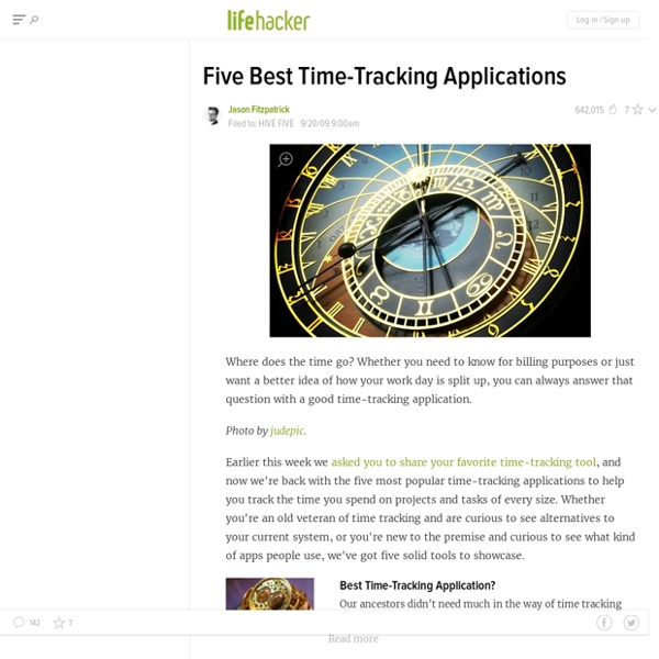 Five Best Time-Tracking Applications - Time management - Lifehacker