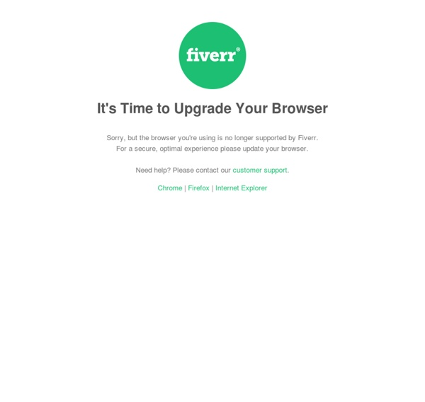 Fiverr: Graphics, marketing, fun and more online services for $5