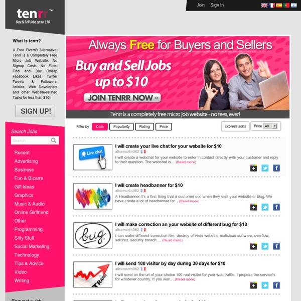 Free Fiverr® Alternative - Buy Cheap Articles, FB Likes, Tweets - Tenrr