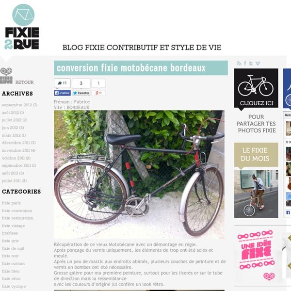 Fixie2rue » BLOG FIXIE CONTRIBUTIF ET STYLE DE VIE