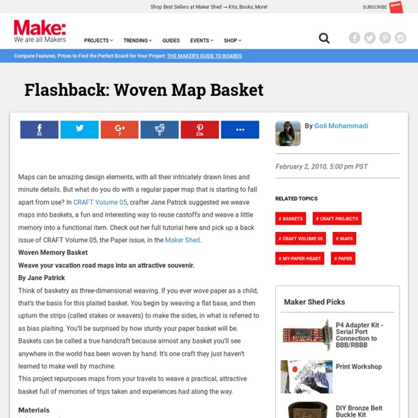 Flashback: Woven Map Basket