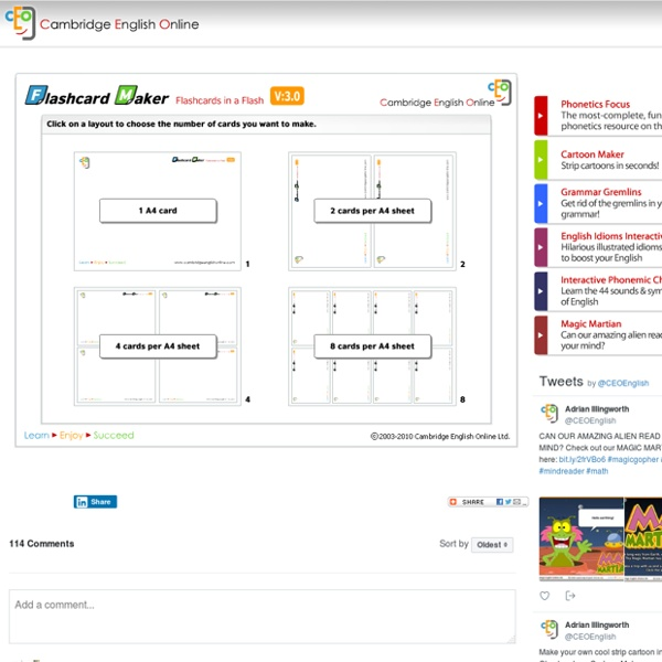 Flashcard Maker - Create & print flashcards in a flash!