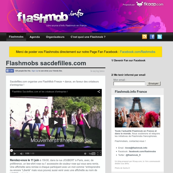 Flashmob.info, 1ère source d'info Flashmob en France - Happening