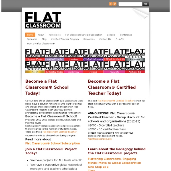 Flat Classroom™ Projects - Home