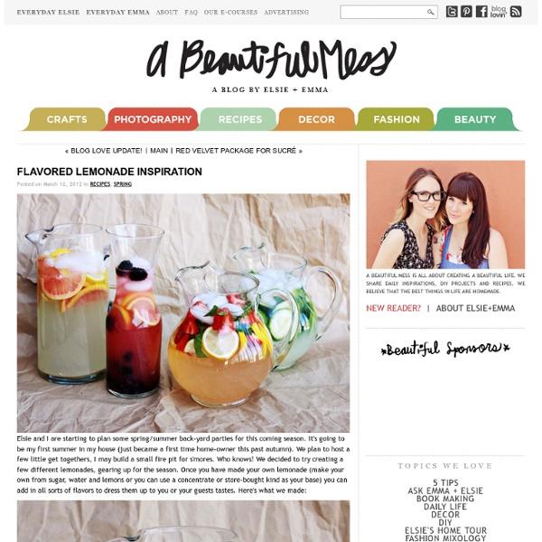 Flavored Lemonade Inspiration