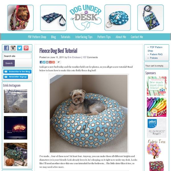 Fleece Dog Bed Tutorial - Dog Under My Desk