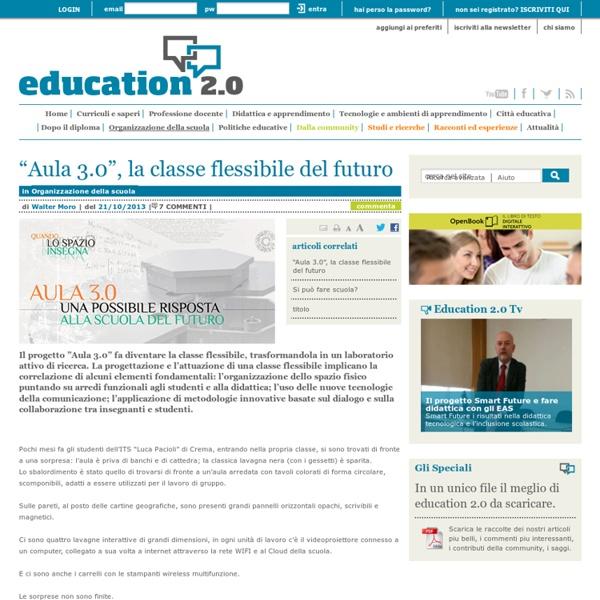 """""""Aula 3.0"""", la classe flessibile del futuro - Organizzazione della scuola"""
