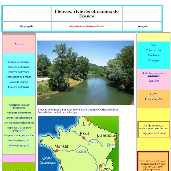 Fleuves et rivieres de France