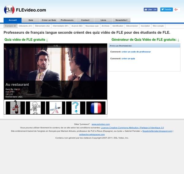 Étudiez le français avec des quiz vidéo de FLE amusants et gratuits.
