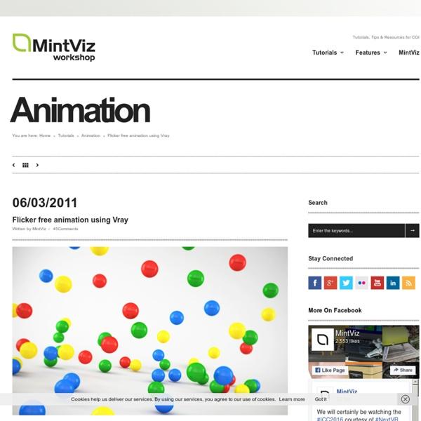 Flicker free animation using Vray