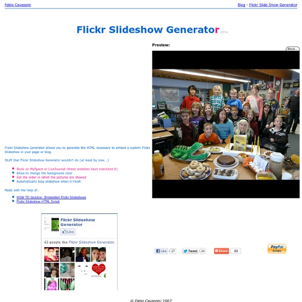 Flickr Slideshow Generator