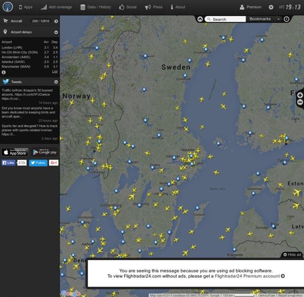 Live Flight Tracker - Carte de suivi des vols en temps réel