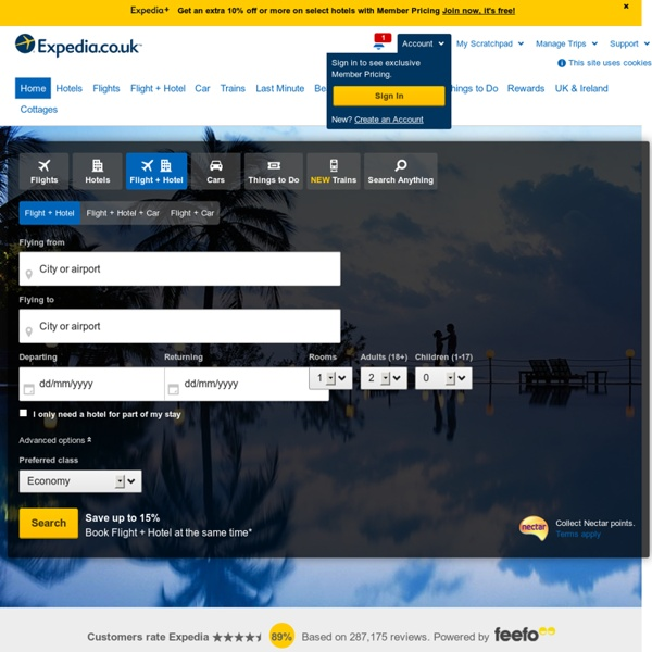 Travel Deals: Flights, Hotels and Holidays - Travel with Expedia