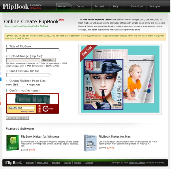 100% Free FlipBook Creator, online photo/image to FlipBook