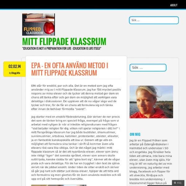 EPA – en ofta använd metod i mitt Flippade Klassrum