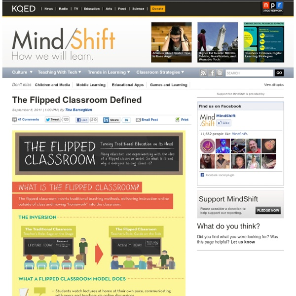 The Flipped Classroom Defined