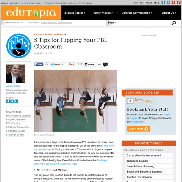 5 Tips for Flipping Your PBL Classroom