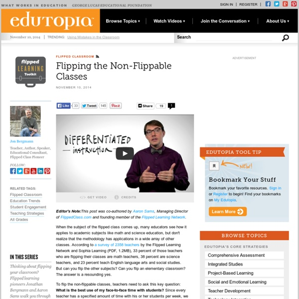 Flipped Learning Toolkit: Flipping the Non-Flippable Classes